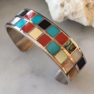 Vintage Native American Becenti Multi Bracelet